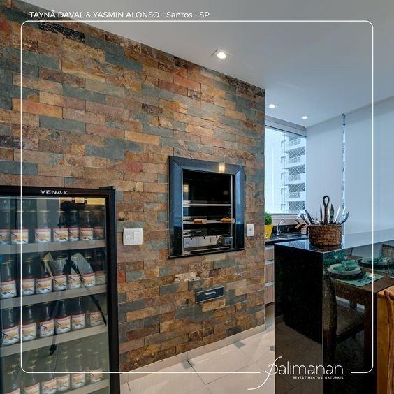 Mosaico de pedra para parede