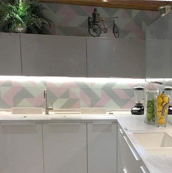 Pastilha de vidro cozinha