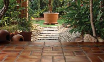 Cerâmica rústica para área externa